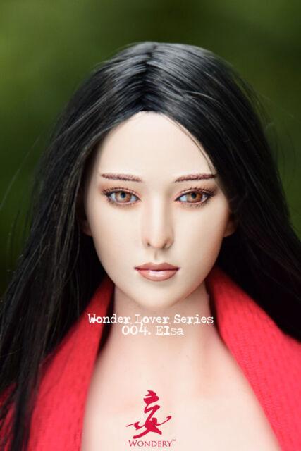 Elsa 1//6 Female Fan Bingbing Asian Head Sculpt W Movable Eyes WONDERY-WLS 004