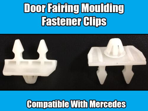 10x Clips For Mercedes Door Moulding Retaining Trim White Plastic 0019884681