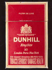 EMPTY PACKET 20 DUNHILL  King Size 13mg Tar  1.2mg Nicotine