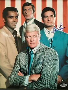 Signed PETER GRAVES + LUPUS 11x14 Photo MISSION IMPOSSIBLE PSA Beckett Autograph
