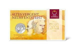 5 Euros Argent Ag 925 Autriche 2021 - Janus
