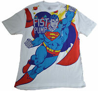 Genuine Warner Brothers Pop Apocalypse Tee Superman Fist Pump Free Ship