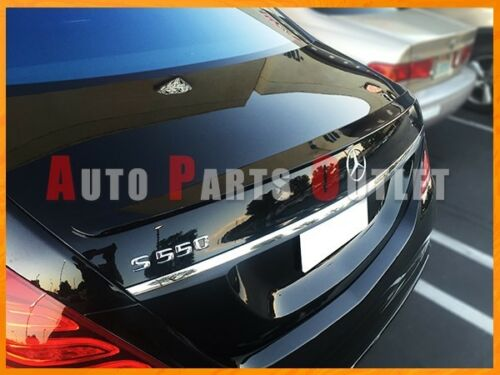 Painted OE Type Trunk Spoiler Lip For 14-17 BENZ W222 S400 S500 S550 S600 Sedan