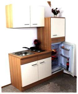 Miniküche 160 Cm Trüffel Singleküche Küche Kühlschrank Ceran Spüle
