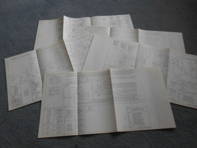 1981 Ford Bronco Big Original Foldout Factory Wiring Diagrams 81 Ford Suv