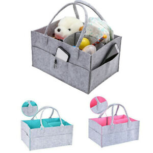 Felt-Baby-Diaper-Caddy-Nursery-Storage-Wipes-Bag-Nappy-Organizer-Container