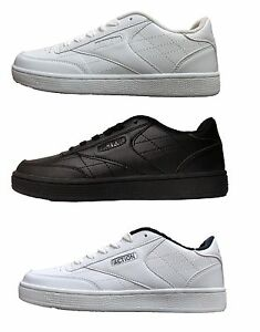 Action Men/'s Classic Leather Athletic Tennis Shoes