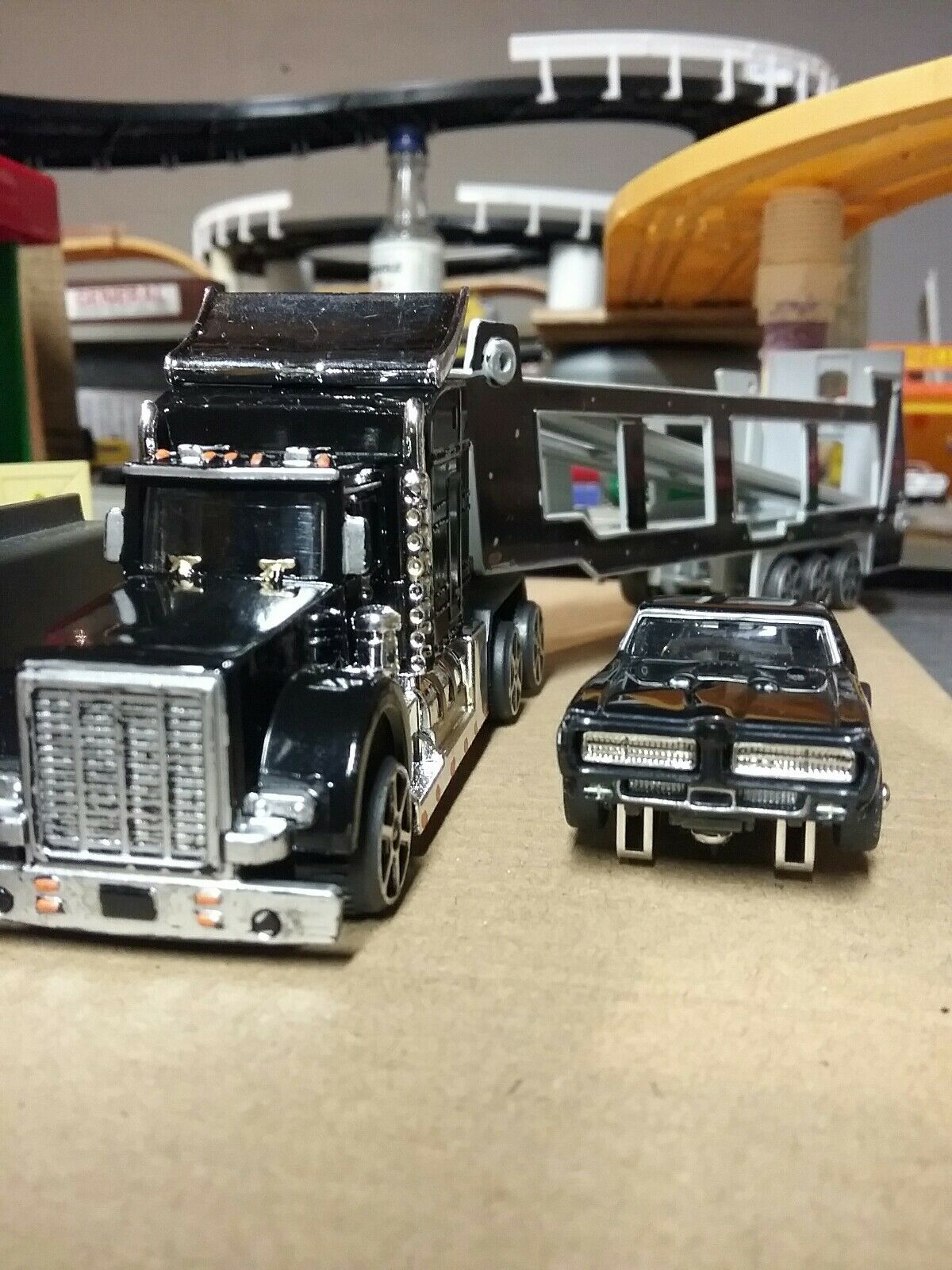 1969 gto slot car ho with transporter