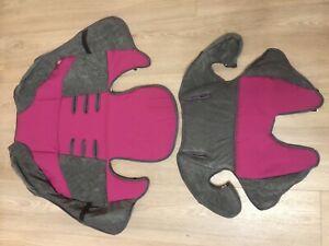 2/x Sicherheitsgurt Bez/üge Pads Rosa echtes Leder