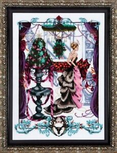 """COMPLETE X STITCH KIT (Everything included) """"CHRISTMAS IN LONDON"""" by Mirabilia"""