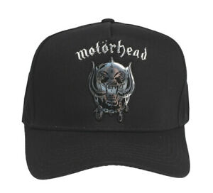 Motorhead-Baseball-Cap-Silver-Warpig-Official-Black-Baseball-Cap-Cap-Motorhead
