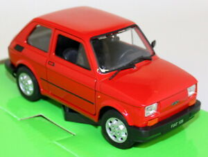 Nex-Models-1-24-27-Scale-Fiat-126-Red-Diecast-model-car