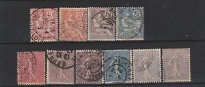 FRANCOBOLLI-1902-03-FRANCIA-MOUCHON-SEMINATRICE-LOTTO-Z-9716