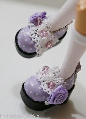 Custom Mary Jane SHOES For Blythe/Pullip/Lalaloopsy/Hujoo/Momoko:B3_375,Lavender