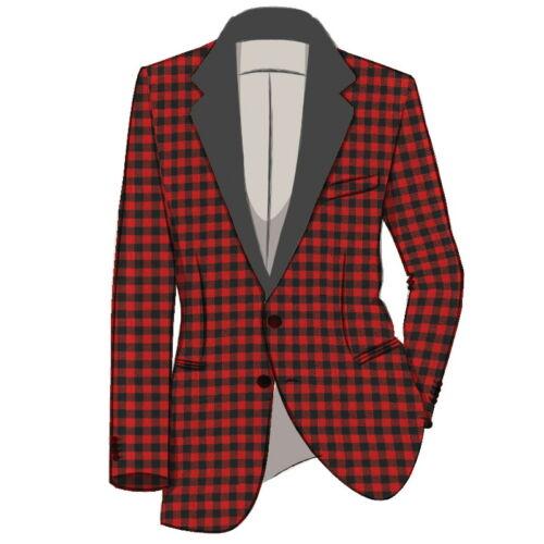 """54/' Hommes écossais tartan laine simple boutonnage Dîner Veste/"""" 16 Oz/"""" Tailles 38/"""""""