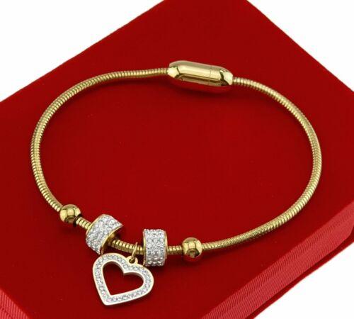 Handkette  chirurgischer Stahl Kette Modeschmuck Damen Goldkette 0360  Herz