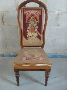 Victorian-Mahogany-and-original-floral-tapestry-upholstered-nursing-chair