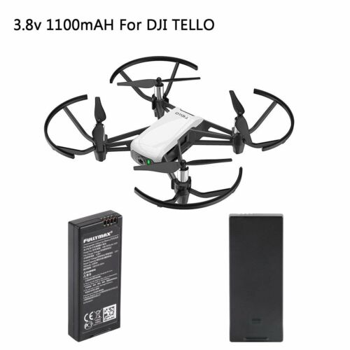 2 x Tello Batterie 1100mAh 1S 3,8V Lipo Batterie für DJI Tello RC Drone Battery