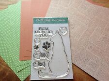 """Lelli-Bot Crafts ~ Moggies ~ Cat ~ A6 Stamps & 8"""" Paper Pack"""