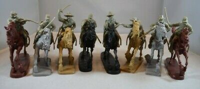 TSSD 1//32 Civil War Cavalry Mounted Figure Playset 8 TSR10-W