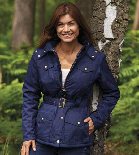 Champion Country Estate Womens Braemar Belt Zip /& Hood Winter Coat