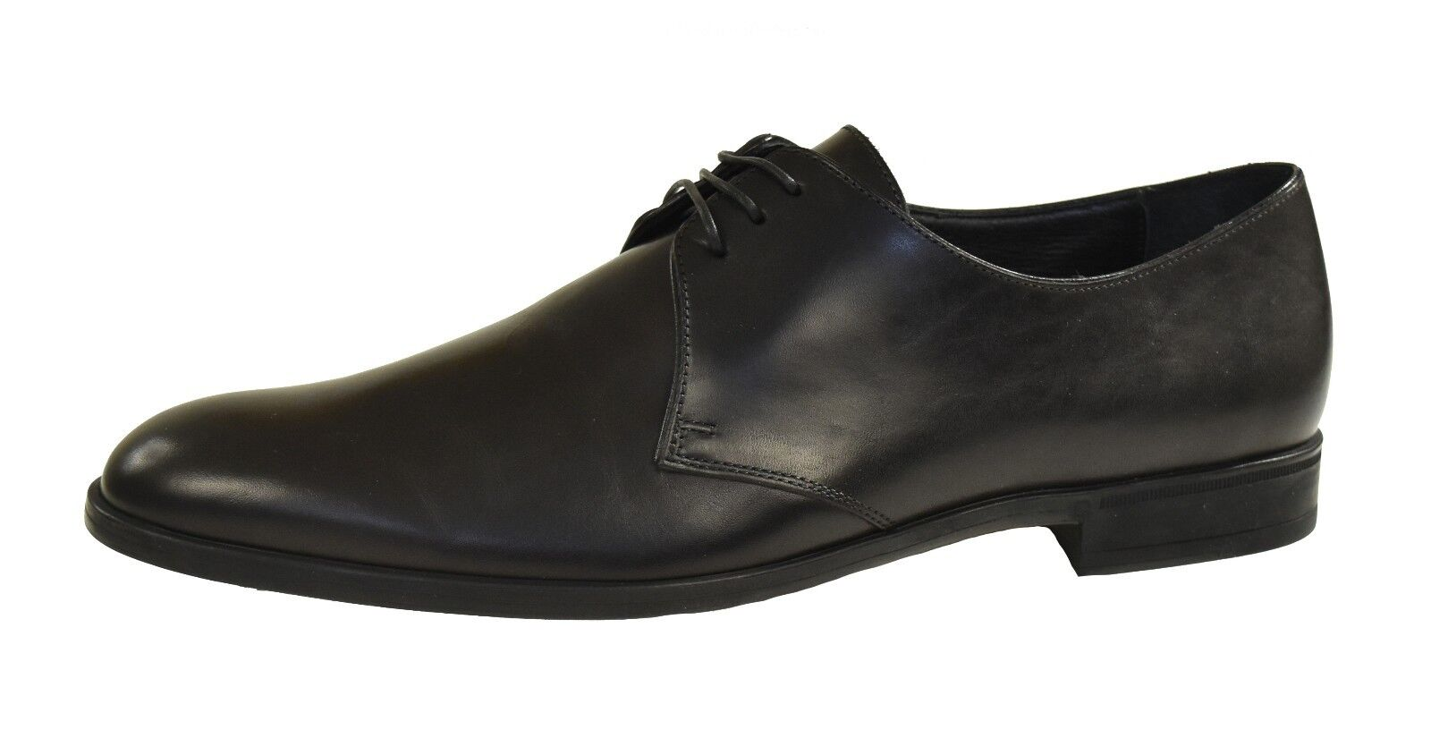 Ralph Lauren lila Label Schwarzes Leder Leder Leder Whickham Oxford Schuh Schuhe Neu ade091