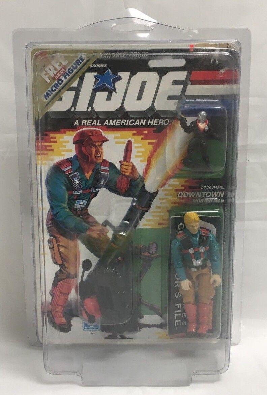 Vintage GI JOE Downtown Mortar Man Micro Figure 1988 Complete