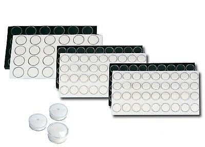 1x Acrylic Display Box Clear Plastic Lid Black or White Foam Insert for Gemstone