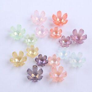 50pcs-Acrylic-Flower-Beads-Transparent-Colorful-Beads-Hair-ornament-Bracelet-DIY