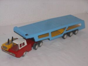 Japan Liberal Vintage Tintoy Future Car Autotransporter Länge 54 Cm 30 Up-To-Date-Styling