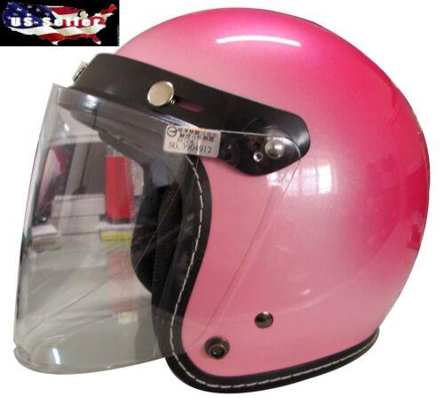 Universal 3 Snap Flip Up Open Face Motorcycle Helmet Visor Shield Five Colors