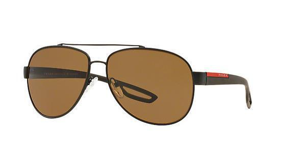 f3a709fad18 PRADA Polarised Sunglasses Authentic SPS 55qs Uea-5y1 62mm Brown Rubber for  sale online