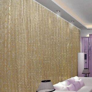 USA Glitter String Door Curtain Beads Room Dividers Beaded Fringe Window Panel