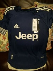Adidas JEEP Juventus Authentic Soccer Jersey 20/21 Heat Dry FN1007 Mens XS $130