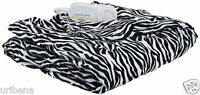 Heated Throw Biddeford Blankets 50 By 62-inch 4441-907484-905 Zebra Print