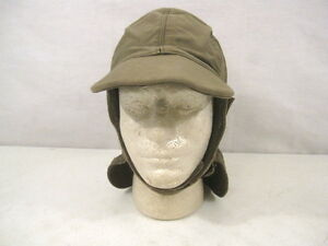 bb9f86161d2 WWII Era US Navy USN Foul Weather Deck Cap or Hood - Size 7 1 2