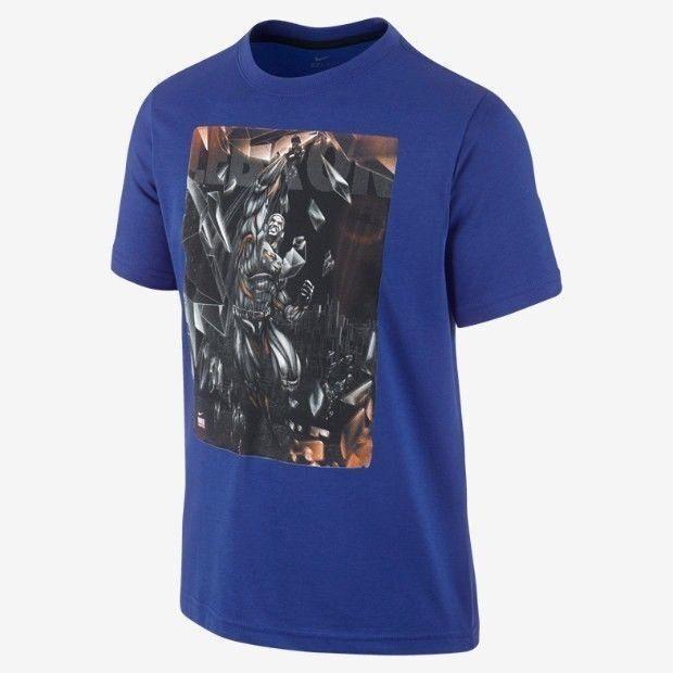 Nike LeBron James Carbonado Dri-FIT Men Basketball Shirt Blue Iron Man 559449