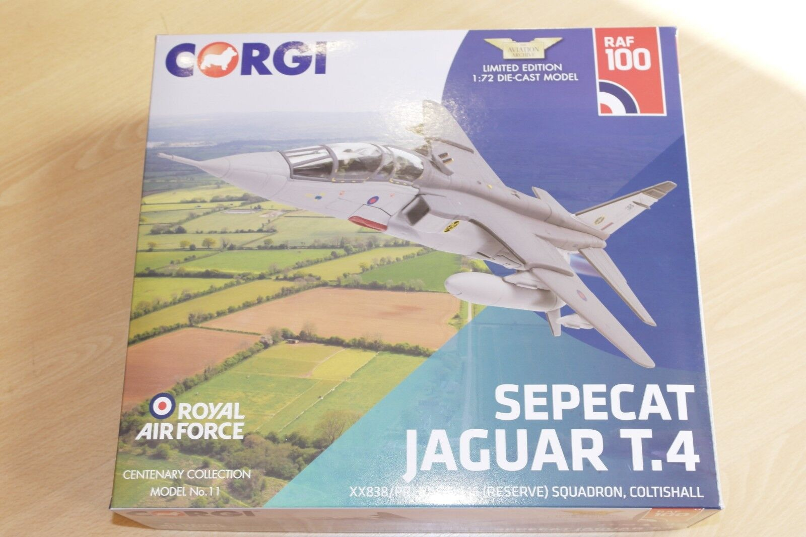 Corgi Aviation 1 72 SEPECAT Jaguar T4 RAF No No No 16 Sqn Coltishall tous sous No.41 e92d55