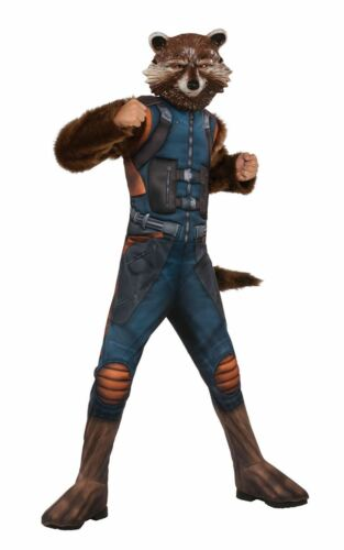 Boys Deluxe Rocket Raccoon Costume Guardians Of The Galaxy 2 Fancy Dress Outfit