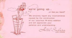 HOTEL-SAHARA-Las-Vegas-NV-Construction-Worker-Comic-ca-1950s-Vintage-Postcard