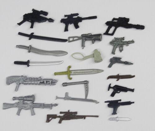"random lot 20 GI Joe Cobra 3.75/""  figure/'s  Accessories Guns sword  Weapons K9"