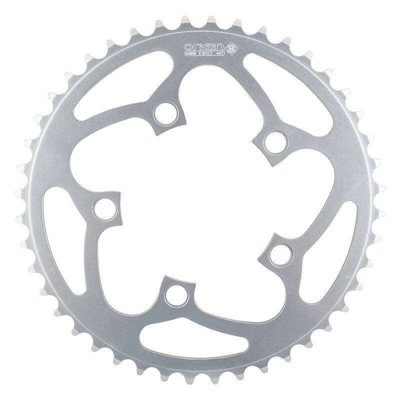 Origin-8 Alloy Blade Chainrings Chainring Or8 94mm 44t Aly Sil
