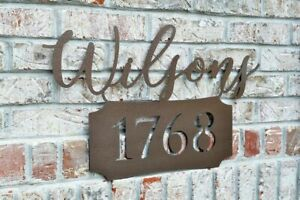 Personalized-Metal-Name-Sign-with-Street-Number