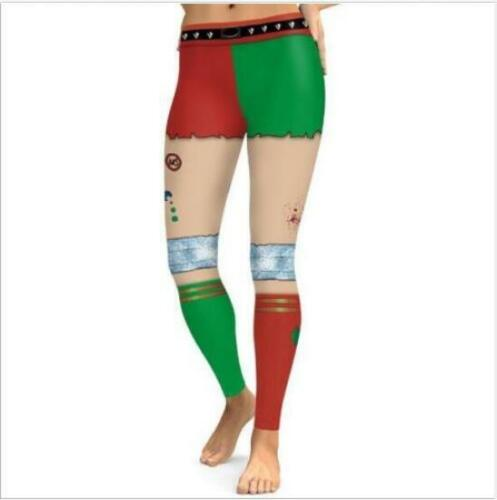 Woman Legging Wonder Woman Squad Harley Quinn Printed Christmas Legging S-XL