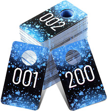 Plastic Number Tags Consecutive Reusable Normal Amp Reversed Hanger Cards Blue 200