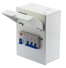 Mini Metal Garage Consumer Unit  63A RCD & 6A, 16A + 32A MCB Amendment 3