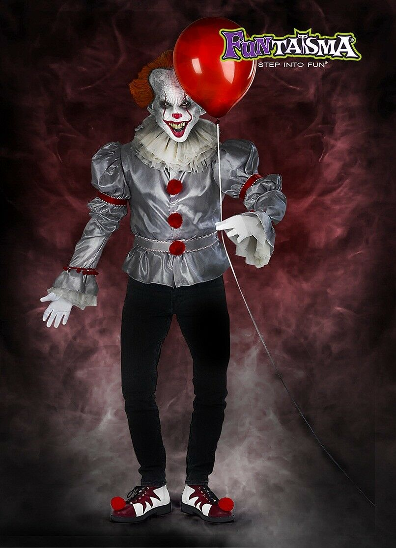 Red White Shoes IT Pennywise Killer Clown Movie Halloween Costume Uomo Shoes White 8 9 10 11 826631