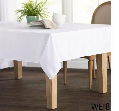 Fleckenbeständige Tischdecke DICK VERSCH FARBEN UND GRÖßEN