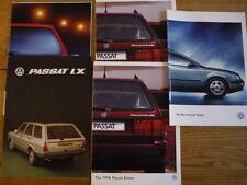 VW VOLKSWAGEN PASSAT ESTATTE CAR BROCHURES 1980's 1990's X 5 jm