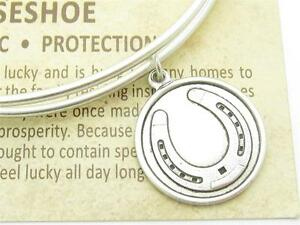 Wind-and-Fire-Horseshoe-Silver-Charm-Wire-Bangle-Stackable-Bangle-Bracelet-Gift